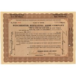 "Temporary Class ""A"" Winchester Stock Certificate"