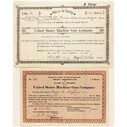 United States Machine Gun Co. Stock Certificates