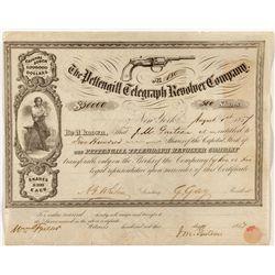 Pettengill Telegraph Revolver Co. Stock Certificate