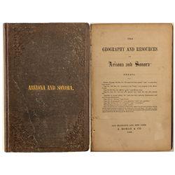 Arizona and Sonora, Mowry, 1863