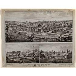 Jackson, CA Unused Pictorial Lettersheet