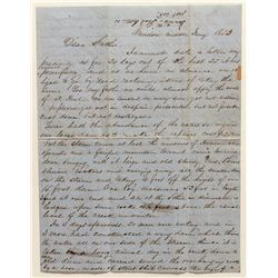 CA Gold Rush Letter, Middle Amador, 1853