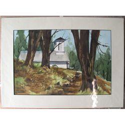 Dorner Schueler watercolor: Murphys Grammar School