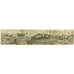 Two Color Mining Sketches, Calaveras County, c. 1881