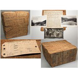 Sutter's Mill Woodblock, CA Gold Rush Artifact
