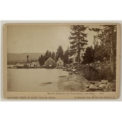 Governor Stanford Steamer, Lake Tahoe Photograph