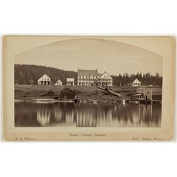 Grand Central Hotel in Summer, Lake Tahoe Cabinet Photograph by R.J. Waters