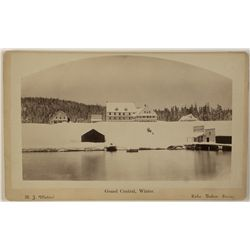 Grand Central Hotel in Winter, Lake Tahoe Cabinet Photograph by R.J. Waters