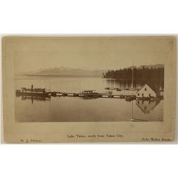 View of Lake Tahoe from Tahoe City Cabinet Photograph by R.J. Waters