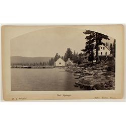 Hot Springs Hotel, Lake Tahoe Cabinet Photograph by R.J. Waters
