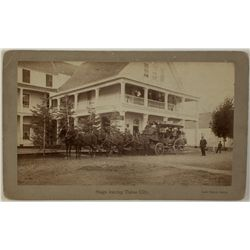 Wells Fargo Stagecoach, Grand Central Hotel, Lake Tahoe Photograph by R.J. Waters
