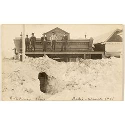 Bodie Snow Tunnel Entrance RPPC c. 1911