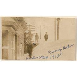 Bodie Winter Scene RPPC 1912