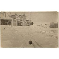 Bodie Winter Street Scene RPPC