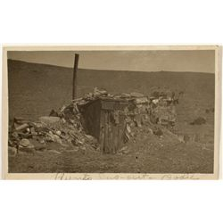 "Bodie"" Dug-out"" RPPC by A.A. Forbes"