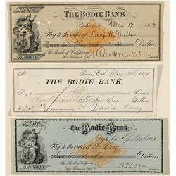 Three Choice Bodie Bank Checks