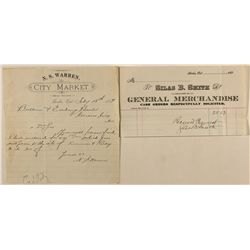 Two Bodie Letterheads