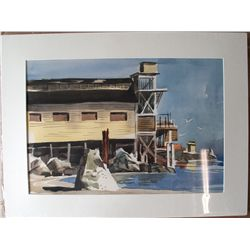 Dorner Schueler watercolor: Monterey Cannery in CA
