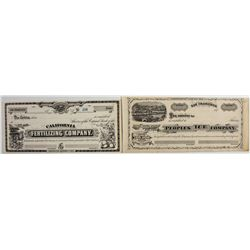 Two unused G. T. Brown stock certificates