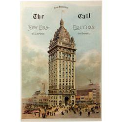 "The Call ""New Era"" Lithograph San Francisco 1897"