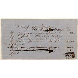 Gold Rush African American Document Yreka,1858