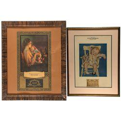 Framed Mother Lode Calendar Artwork Pair