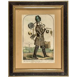 """""""Independent Gold Hunter"""" Lithograph c.1850"""