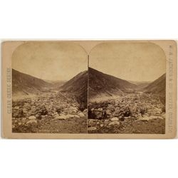 Georgetown, CO Clear Creek Canon Stereoview