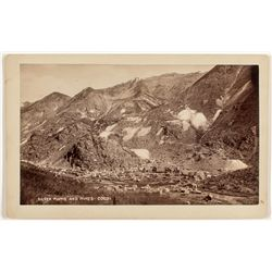 Silver Plume and Mines, CO, Cabinet Card, c. 1885