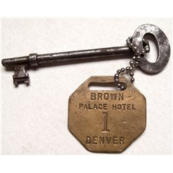 Brown Palace Hotel tag AND key