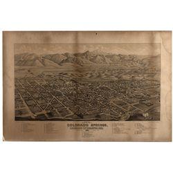 Colorado Springs 1882 Map