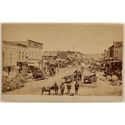 Harrison Avenue, Leadville, CO Cabinet Card, c. 1880