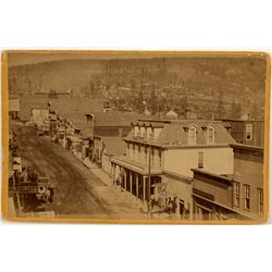 Street Scene, Leadville, CO Cabinet Card