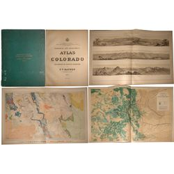 Geological and Geographical Atlas of Colorado, Hayden, 1877