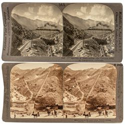 Two railroad/mining Western Stereoviews