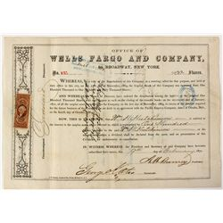 Wells Fargo and Co. Stock Certificate