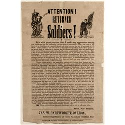 Civil War Recruitment Broadside