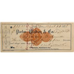 Rare Lida, Nevada Check 1873