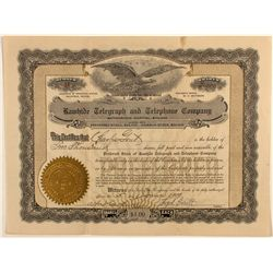 Rawhide Telegraph and Telephone stock certificate