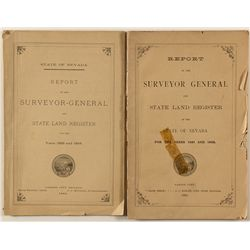 Two Nevada State Surveyor General Reports, 1883 and 1895