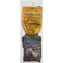 Rare Virginia City Premiere ribbon