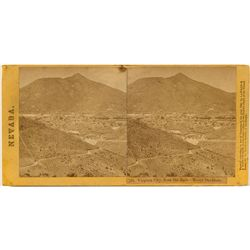 Stereoview of Virginia City Looking East
