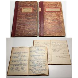 Two ledgers for Reno druggist NE Wilson c. 1890s