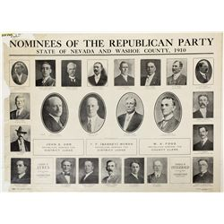 1910 Nevada Republican nominees broadside