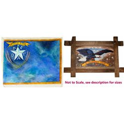 Nevada Flag and E Pluribus Unum Paintings
