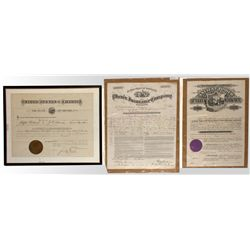 Three Nevada historic documents