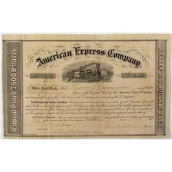 American Express Co. Stock Certificate 1856