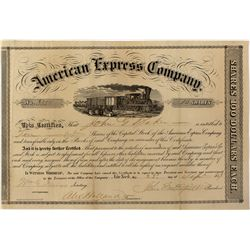 American Express Co. Stock Certificate 1859