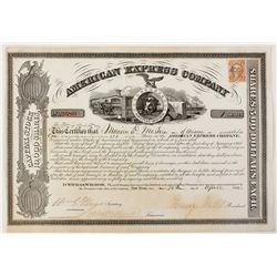 American Express Co. Stock Certificate 1866