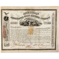 American Merchants Union Express Co. Stock Certificate
